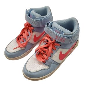 Nike Baby Blue & Neon Pink Air Force size